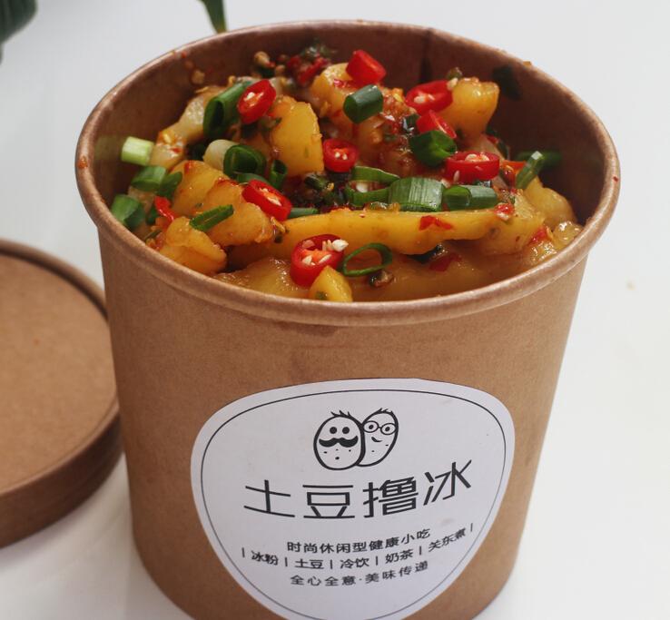 土豆擼冰小吃